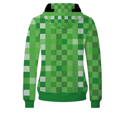 Anime Sweatshirt - Minecraft Unisex Zip Up Hoodie