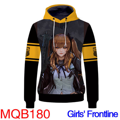 Anime Hoodies - Girl Front Unisex Pullover Hoodie