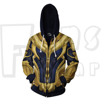 Avengers Endgame  - Thanos Unisex Zip Up Pullover Hoodie