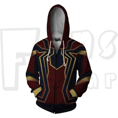 assemble - Iron Spidey Unisex Zip Up Pullover Hoodie