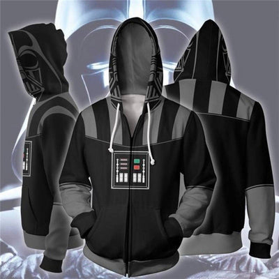 Star Wars Hoodies Sale Darth Vader Cosplay Zip Up Hoodie 5XL Zip Up Hoodie