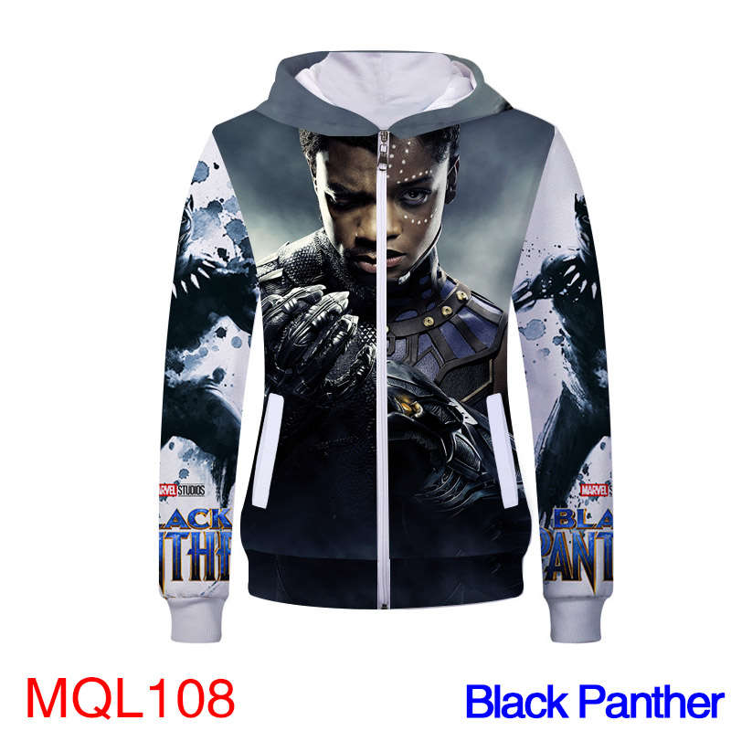 Movie Sweatshirt - Black Panther Unisex Zip Up Hoodie