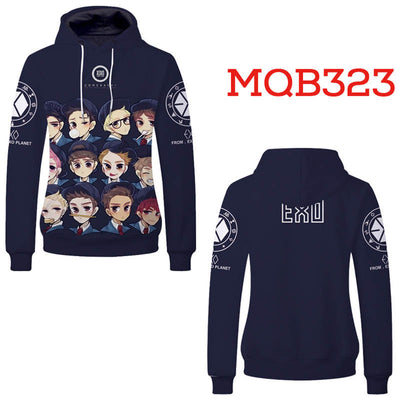 EXO Hoodies - Unisex Pullover Hooded Sweatshirt