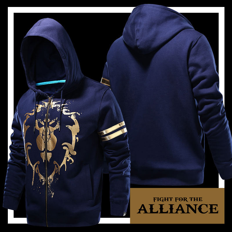 WOW Cotton Hoodie World of Tribe The Alliance Hoodies