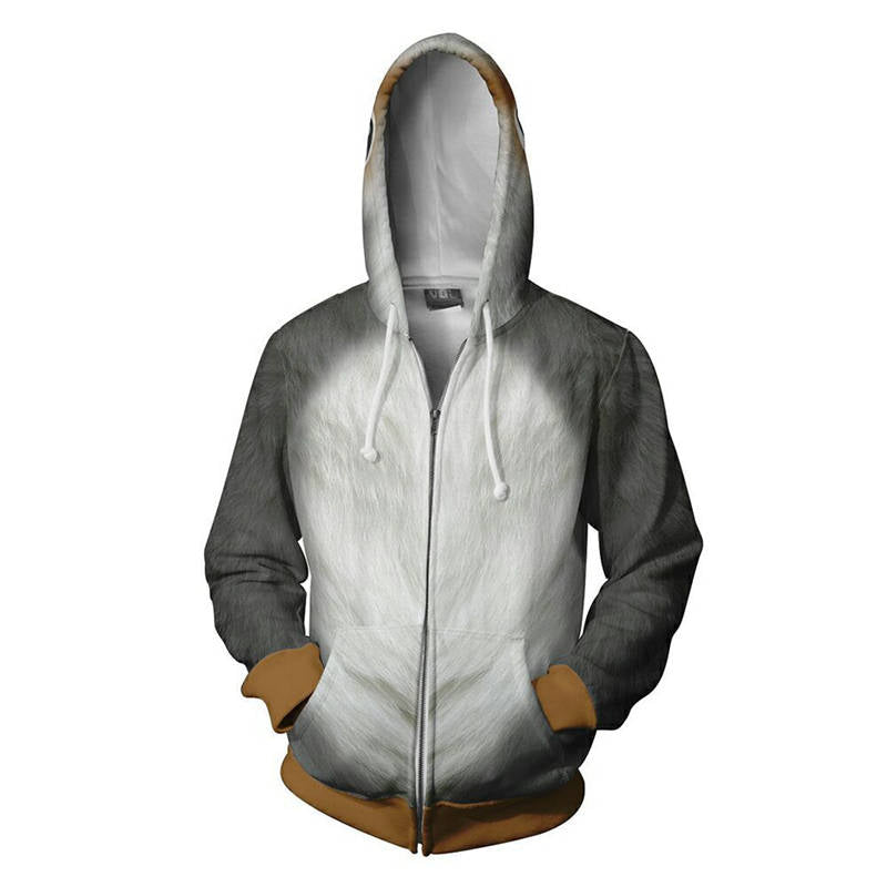 Star Wars: The Last Jedi Hoodie - Porg Cosplay Zip Up Hoodie