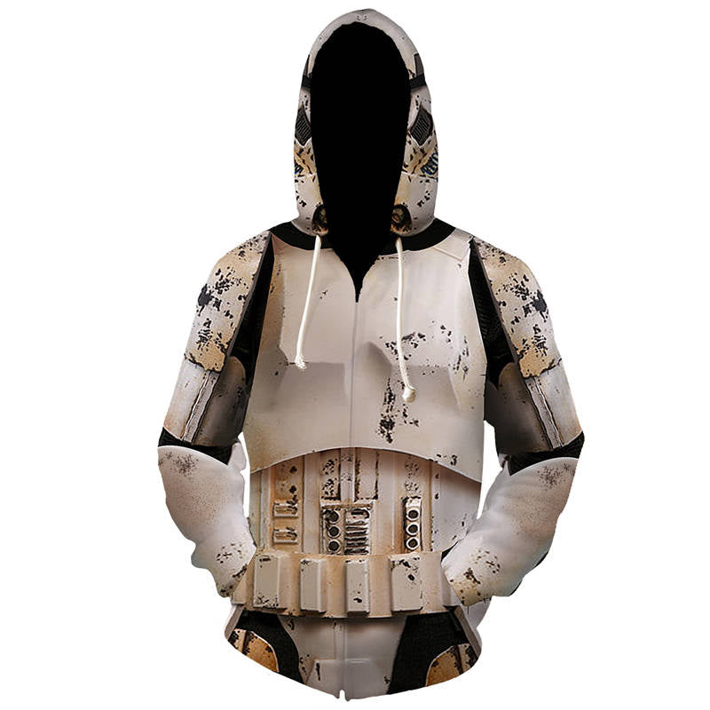 New Trendy - Stormtrooper Cosplay Zip Up Hoodie
