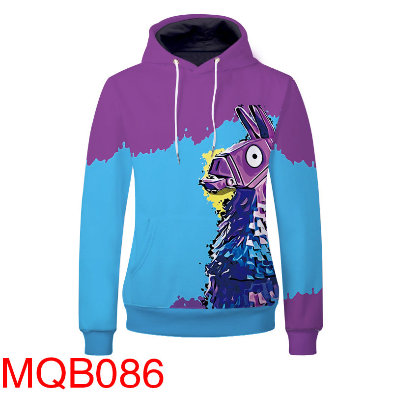 Battle Gaming Llama Hoodies - Unisex Pullover Hoodie