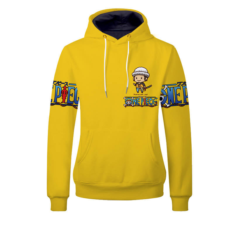 One Piece Hoodies - Trafalgar Law Unisex Pullover Hooded Sweatshirt
