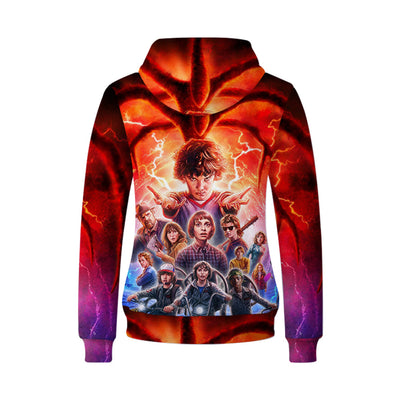 Movie Sweatshirt - STRANGER THINGS Unisex Zip Up Hoodie