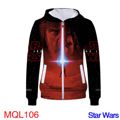 Movie Sweatshirt - Star Force Unisex Zip Up Hoodie