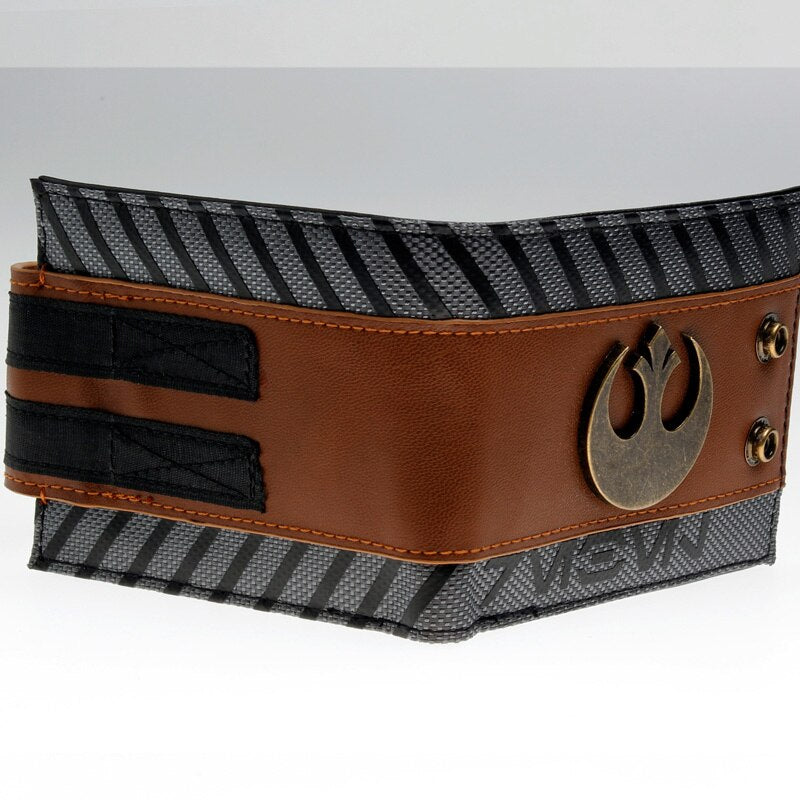 Star Wars Rogue One - Rebel Snap Bi-Fold Men Wallet with Metal Logo Badge Purse