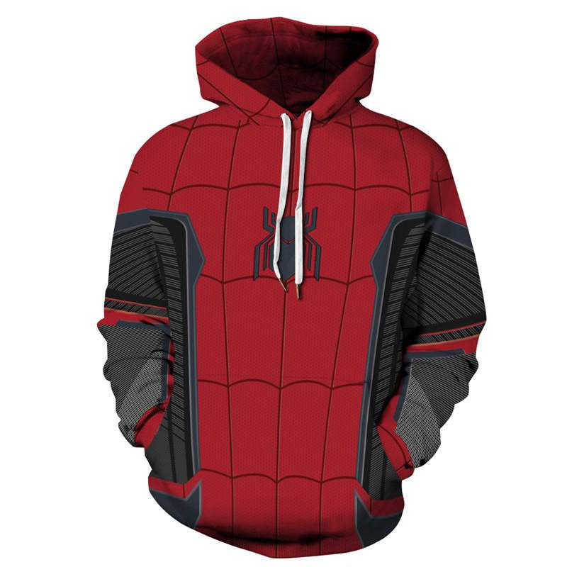 Spider-Man 2 Far from Home Family Unisex Pullover Sweatsihrt Chlidren Hoodie-1