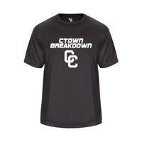 CTOWN BREAKDOWN Vent Back Shirt Graphite with White CC Logo