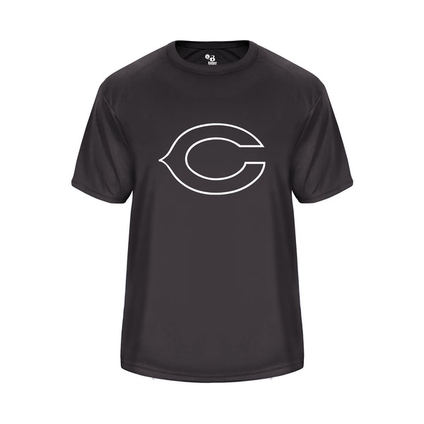 Vent Back Graphite Shirt with White Columbus Little League C