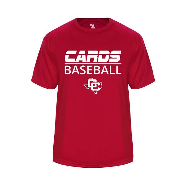 Cards Baseball Youth Vent Back Red Shirt with White Logo