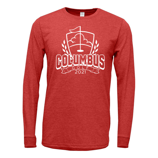 2021 Columbus Golf TriBlend Long Sleeve Shirt