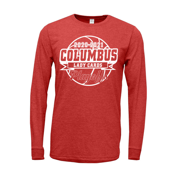 2020-2021 Columbus Girls Basketball Playoff TriBlend Long Sleeve Shirt