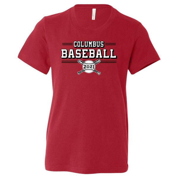 2021 Columbus Baseball Playoff Youth Short Sleeve Shirt