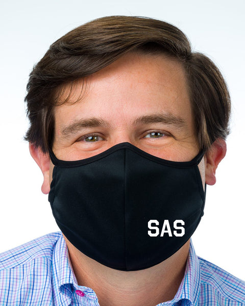 Mask with SAS Logo
