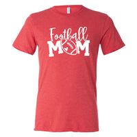 Cursive Football Mom Tri Blend Shirt