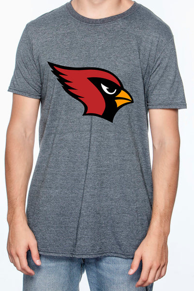 Dark Heather Shirt with Cardinal