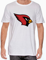 Youth White Shirt with Cardinal