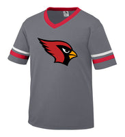 Youth Graphite Jersey with Cardinal Logo
