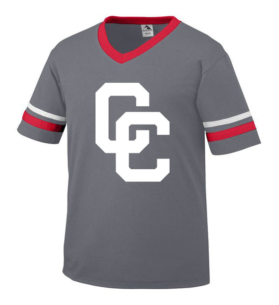 Youth Graphite Jersey with White CC Logo