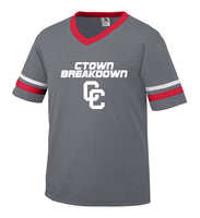 Youth Graphite Jersey with White CTOWN BREAKDOWN CC Logo