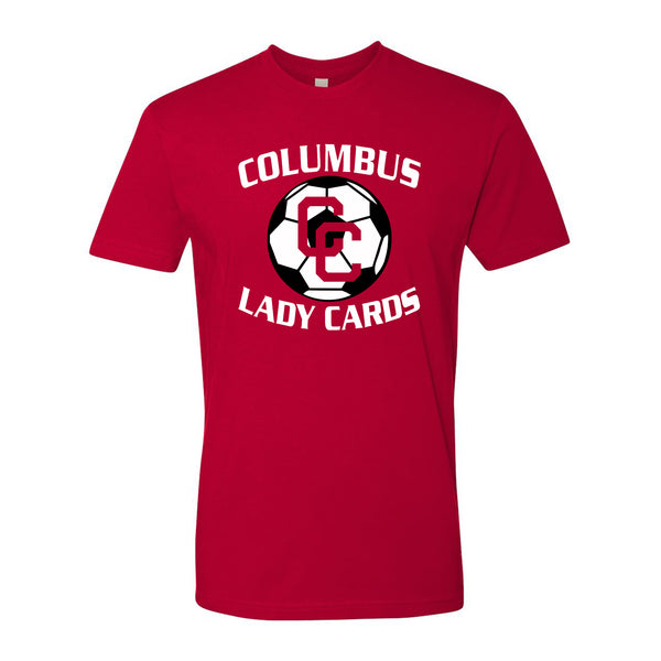 2021 Columbus Lady Cards Soccer Playoff Short Sleeve Shirt