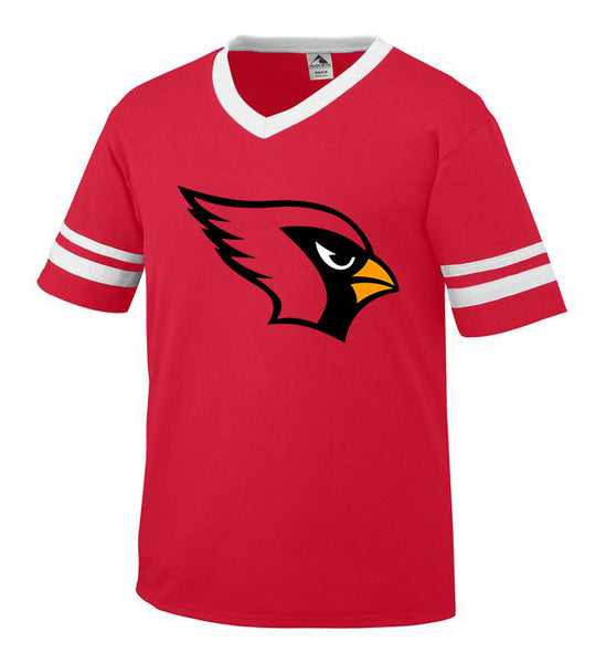 Red and White Jersey with Cardinal Logo