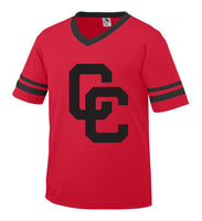 Youth Red Jersey with Black CC Logo