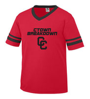 Red Jersey with Black CTOWN BREAKDOWN CC Logo