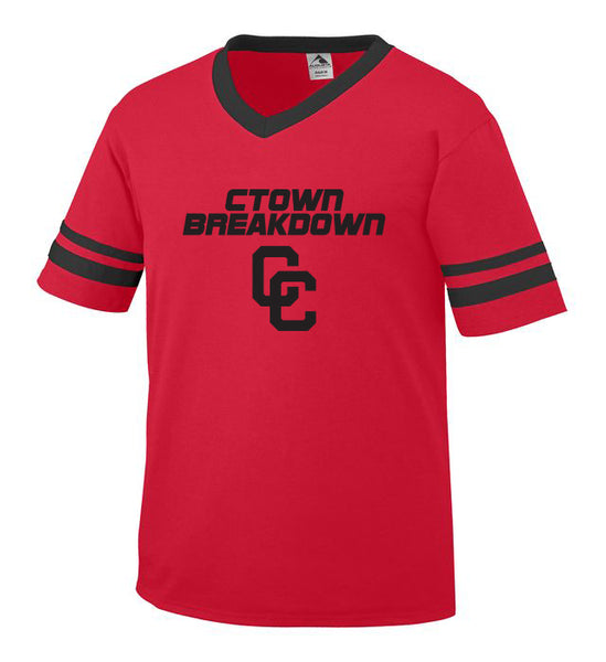 Youth Red Jersey with Black CTOWN BREAKDOWN CC Logo