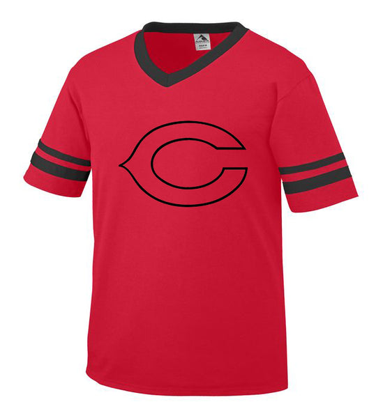 Youth Red Jersey with Black Little League C Logo