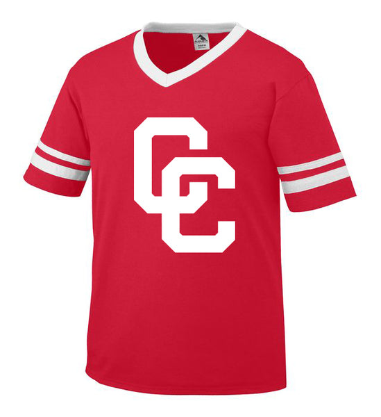 Youth Red Jersey with White CC Logo