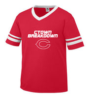 Red Jersey with White CTOWN BREAKDOWN Little League C Logo