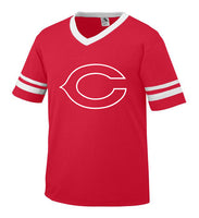 Youth Red Jersey with White Little League C Logo