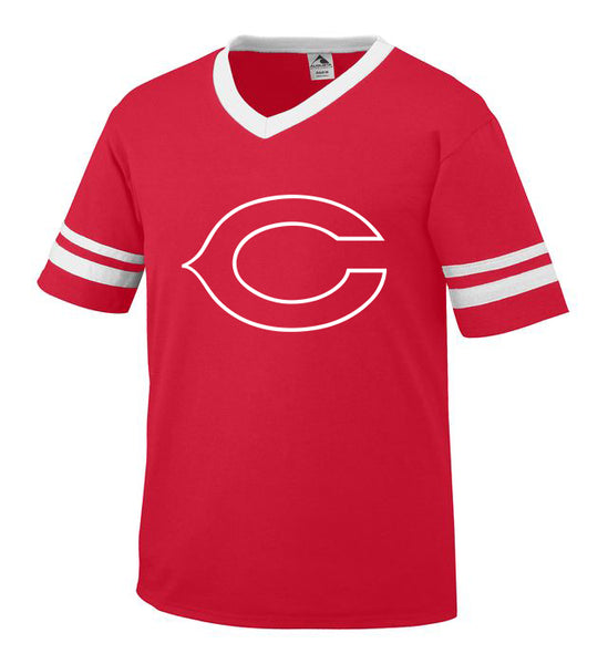 Red Jersey with White Little League C Logo