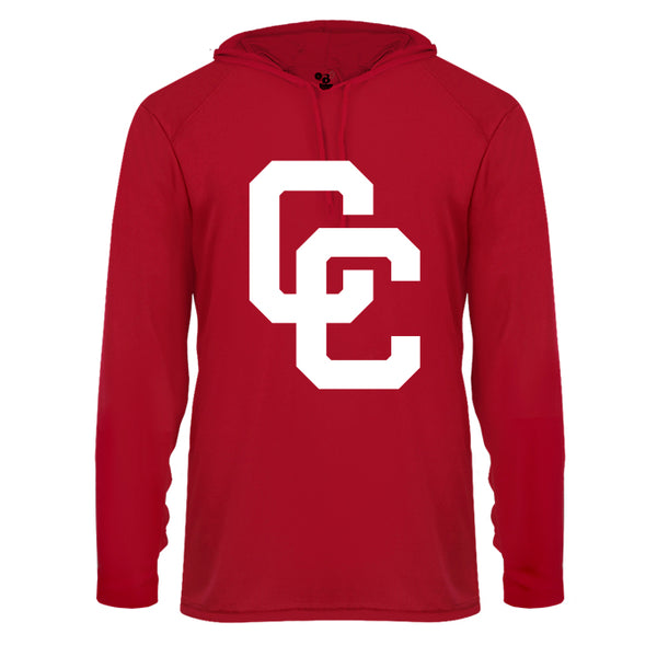 Youth Red Hoodie with White CC