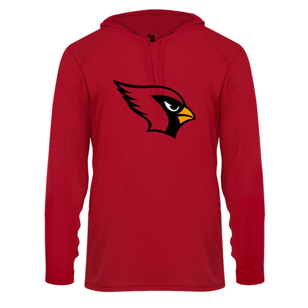 Red Fleece Hoodie with Cardinal Logo