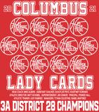 2020-2021 Columbus Girls Basketball Playoff TriBlend Shirt
