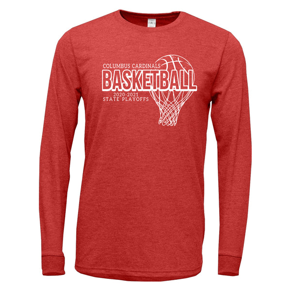 2020-2021 Columbus Boys Basketball Playoff TriBlend Long Sleeve Shirt