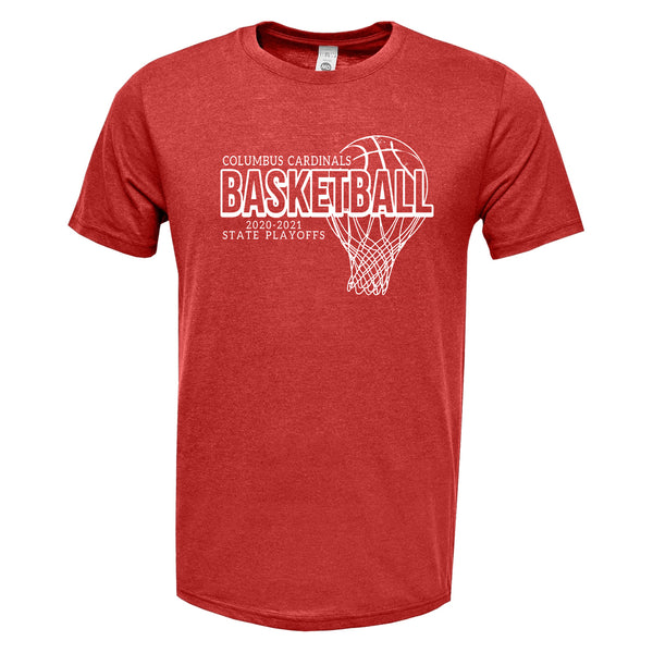 2020-2021 Columbus Boys Basketball Playoff TriBlend Shirt