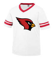 White Jersey with Cardinal Logo