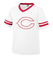 White Jersey with Red Little League C Logo