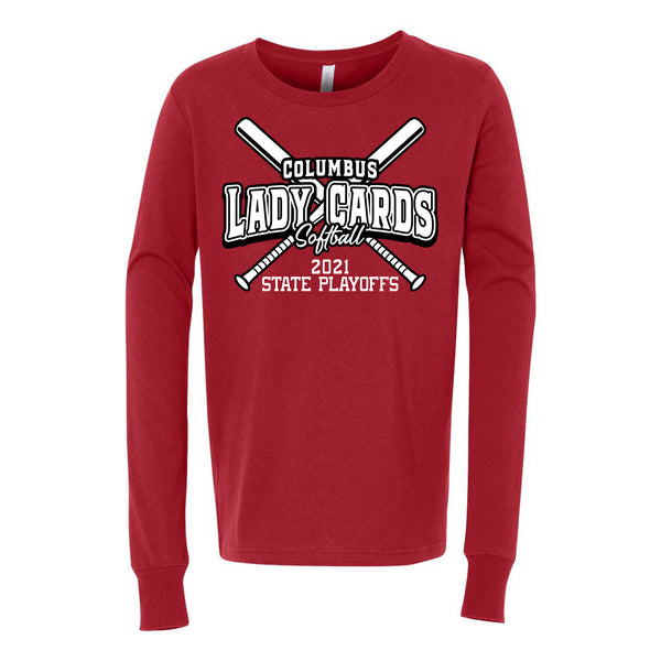 2021 Columbus Softball Playoff Youth Long Sleeve Shirt