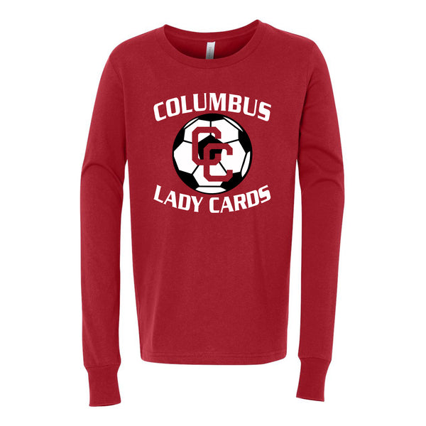 2021 Columbus Lady Cards Soccer Playoff Youth Long Sleeve Shirt