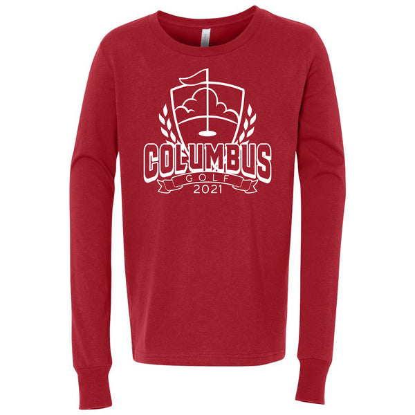 2021 Columbus Golf  Youth Long Sleeve Shirt
