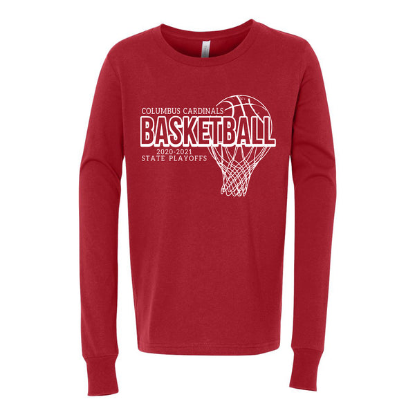 2020-2021 Columbus Boys Basketball Playoff Youth Long Sleeve Shirt